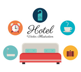 Hotel design, vector illustration.