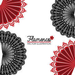 Flamenco design, vector illustration.