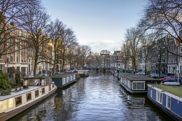 View of one of the Unesco world heritage famous city canals