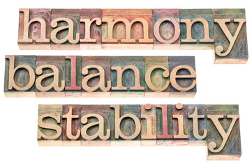 harmony, balance and stability
