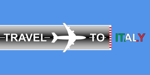 travel to italy with flag