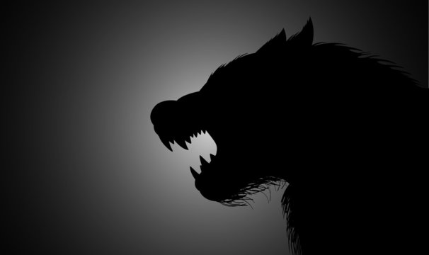A werewolf lurking in the dark