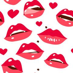 Sexy lips seamless pattern