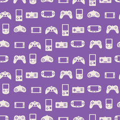 seamless background with game consoles for your design