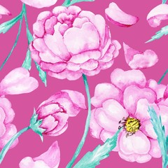 Spring blossoming botanic pattern