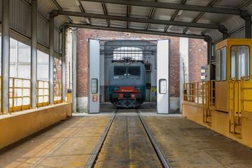 Stazione di manutenzione treno