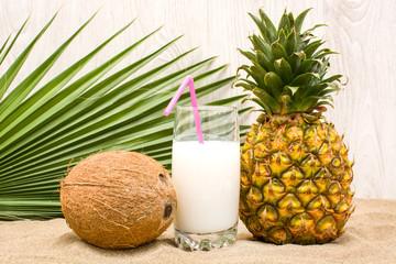 tropical fruit on summer