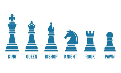 Named chess piece icons