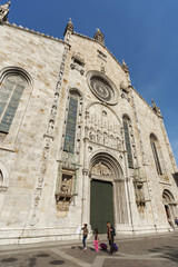 Fototapete - facade of Cathedral in Como city, Lombardy, Italy
