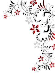 floral,blätter,blumen,hochzeitstag,kunst,motiv,muster,natur,rot