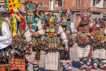 Colorful costumes and masks