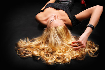 Girl with beautiful blond hair
