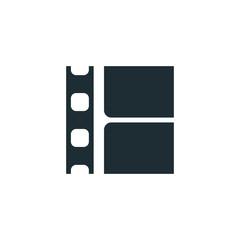 Film strip, simple conceptual logo.