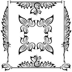 decor floral frame