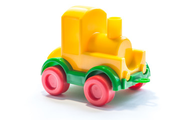 Plastic yellow train