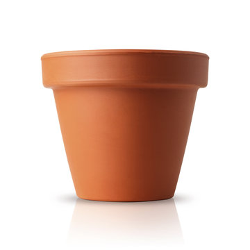 flower pot isolated on white