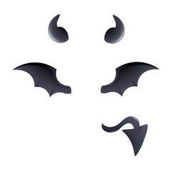 Devil Costume Elements Vector