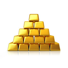 Golden bars pyramid