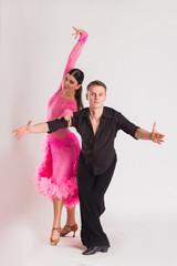 Man and woman posing in dance pose