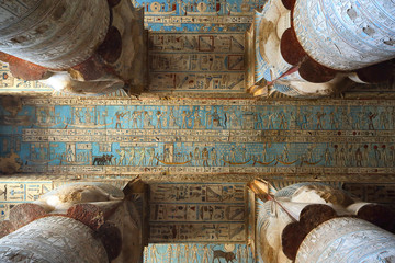 Printed roller blinds Egypt Interior of ancient egypt temple in Dendera