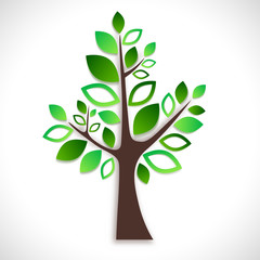 Abstract tree on white background