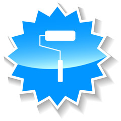 Roller blue icon