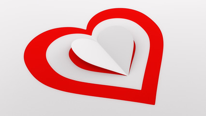 Paper Heart Illustration