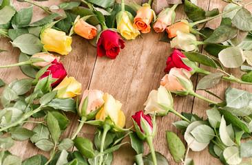 Glückwunschkarte Herz Rosen Liebe