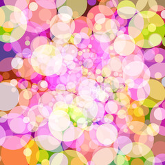 Abstract background with colorful circles. Vector. 5
