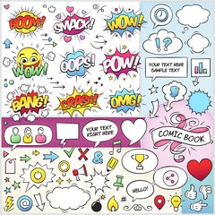 Comic Book Elements Vector Pack