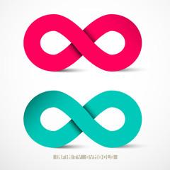 Paper Infinity Symbols Set Vector