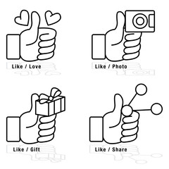 Thumbs Up Icon Set