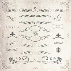 Calligraphic and Decorative Design Elements