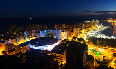 Malaga and Mediterranean  in  nigh