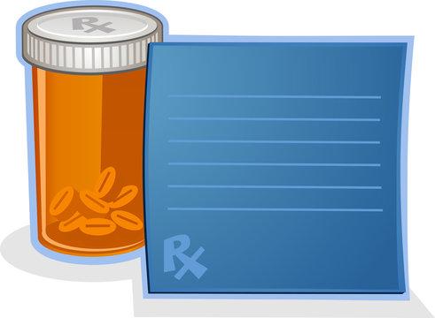 Prescription Drug Pill Bottle Cartoon