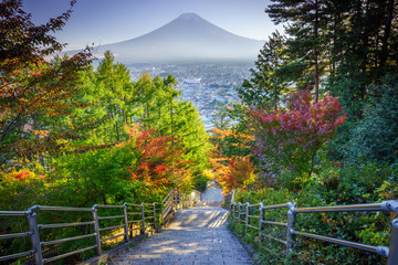 Wall Mural - Stairway to Mt. Fuji Fujiyoshida, Japan