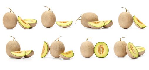 composite of Japanese green melon fruit