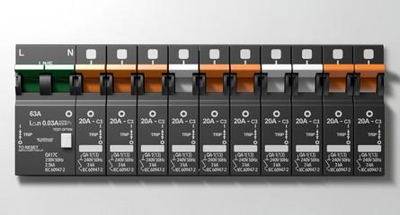 Electrical Circuit Breaker Panel
