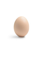 Whole egg on a white background