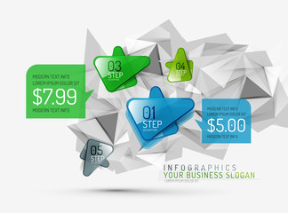 Vector fresh business abstract infographic
