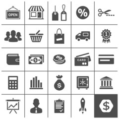 Startup business icons set - Simplus series