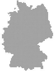 Deutschlandkarte aus Punkten / Kreisen