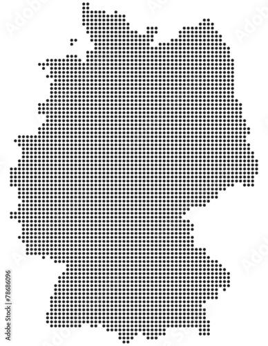 deutschland karte punkte Deutschlandkarte aus Punkten / Kreisen | Schatten