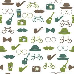 Hipster seamless pattern