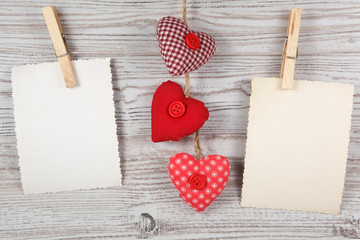 Heart-shaped decoration with photo frames