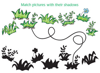 Grass and flowers cartoon - game for children