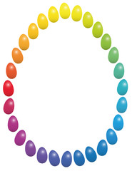 Easter Eggs Rainbow Frame