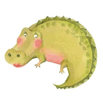 Cartoon crocodile illustration