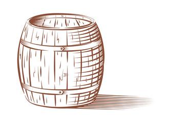 Vector beer or wine barrel