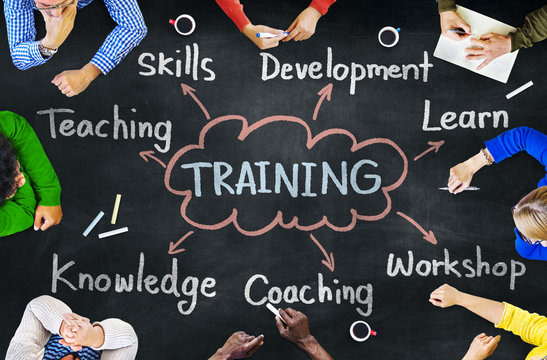 Diverse People Training Skills Workshop Concept